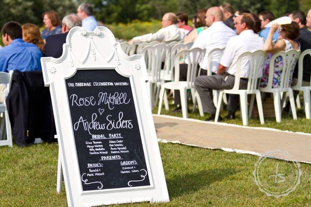 "$5k Wedding Wednesday-Framed Chalkboard ""Program"" Tutorial"