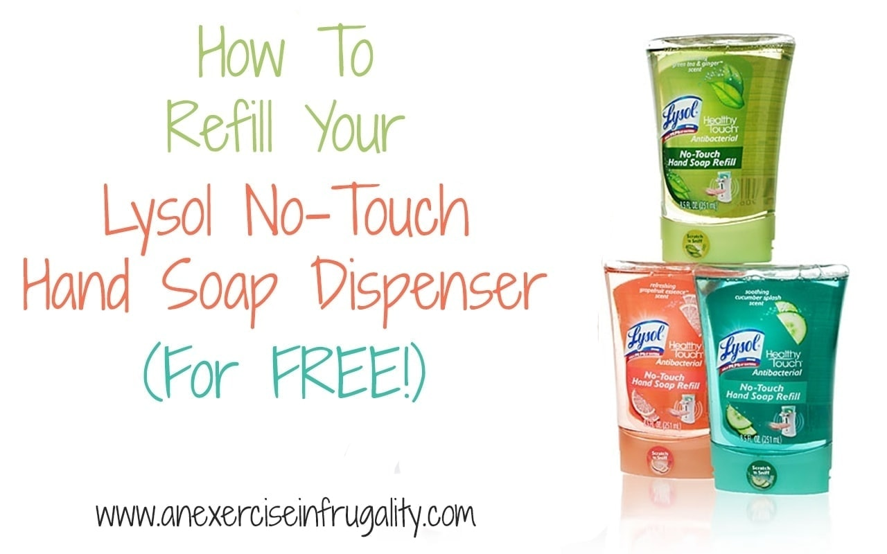 How To Refill Your Lysol No Touch Dispenser In 5 Easy