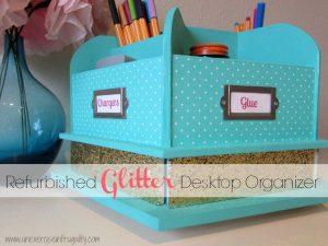 Glitter Desktop Organizer