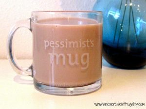 Pessimist mug front
