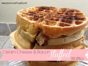 Cream Cheese and Bacon Stuffed Waffles Recipe