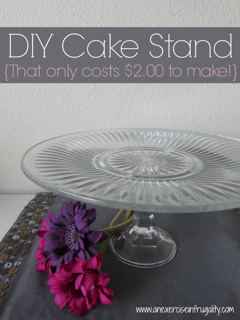 Diy cake stands an exercise in frugality for Plate cake stand diy