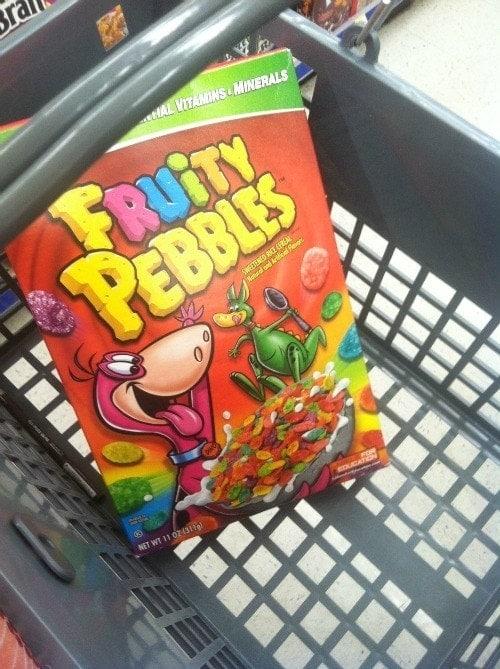 Fruity Pebbles Walgreens Basket