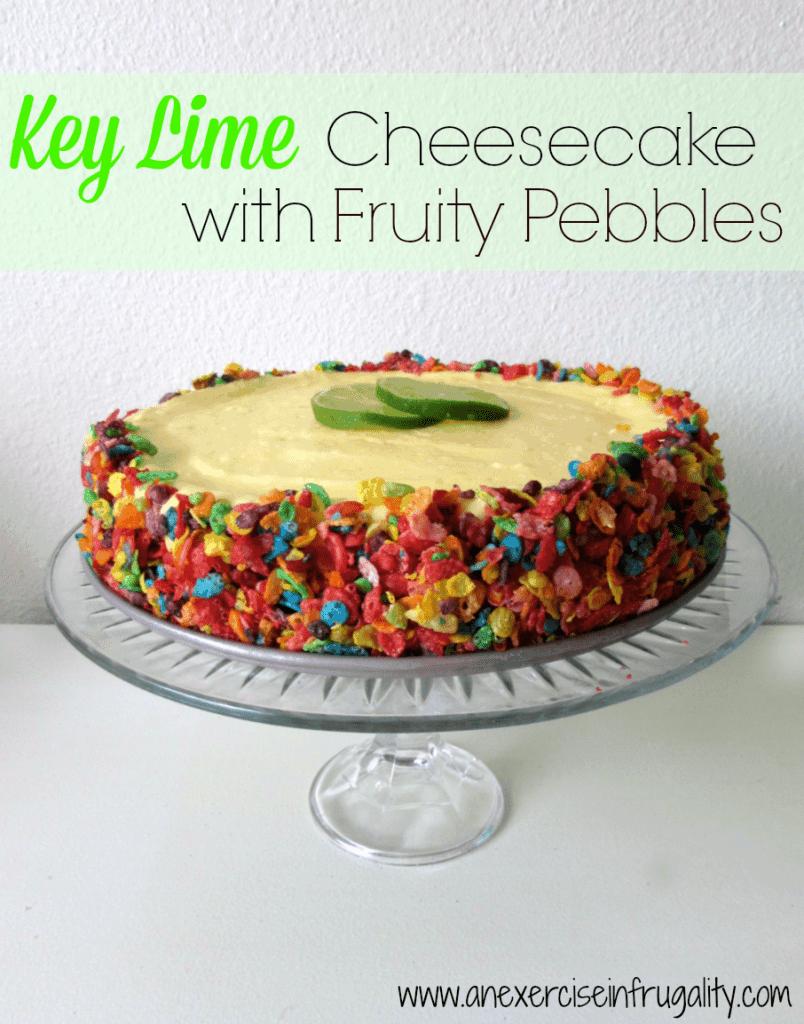 Key Lime Fruity Pebbles Cheesecake