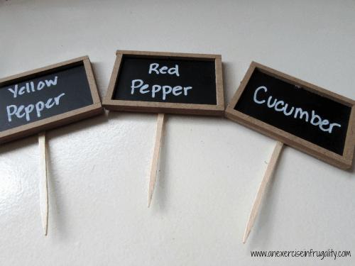 chalkboard garden plant markers