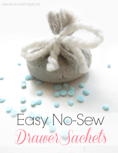 No-Sew Drawer Sachets