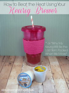 How to Use Your Keurig for Iced Tea!