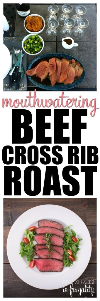 This MOUTHWATERING Beef Cross Rib Roast recipe is SO simple, it has just TWO ingredients! If you're avoiding packaged foods, then one of the ingredients can be made with spices you have in your cabinet. Still really easy! This is the perfect cooking method for a tender cross rib roast, perfect for your holiday guests, Christmas dinner or any night!