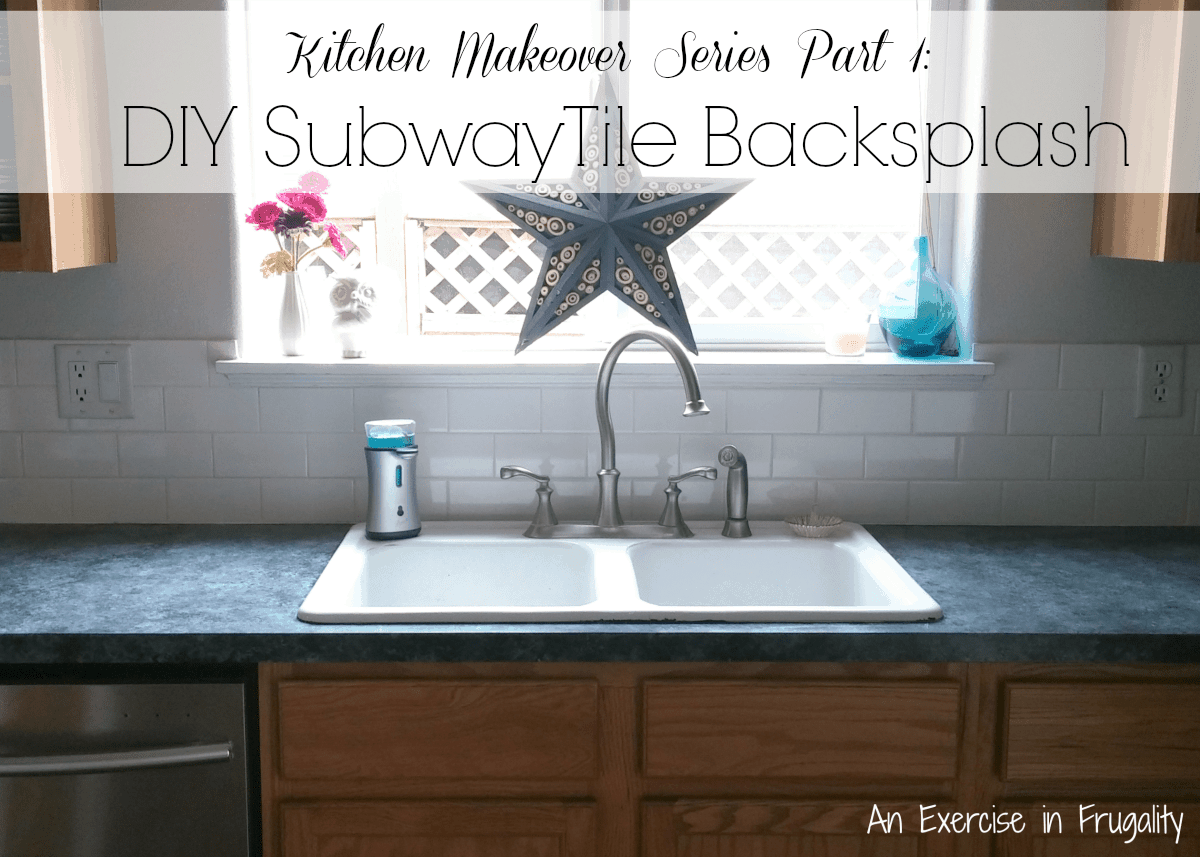 Kitchen Makeover White Subway Tile Backsplash