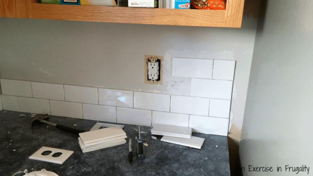 Single Row Tile Backsplash Tile Design Ideas