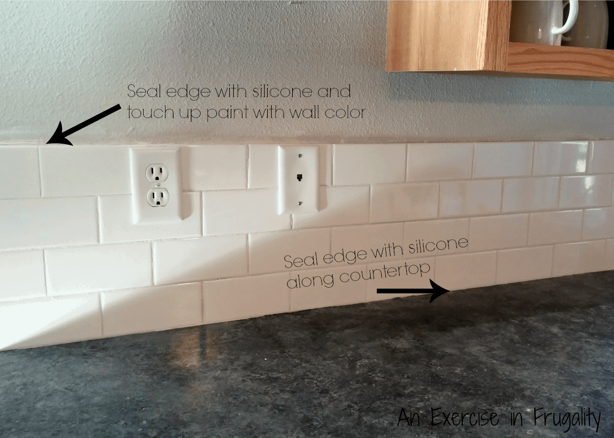 subway tile seal seam silicone an exercise in frugality