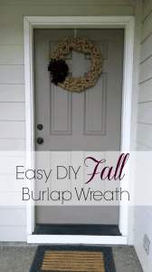 Easy DIY Fall Burlap Wreath Tutorial