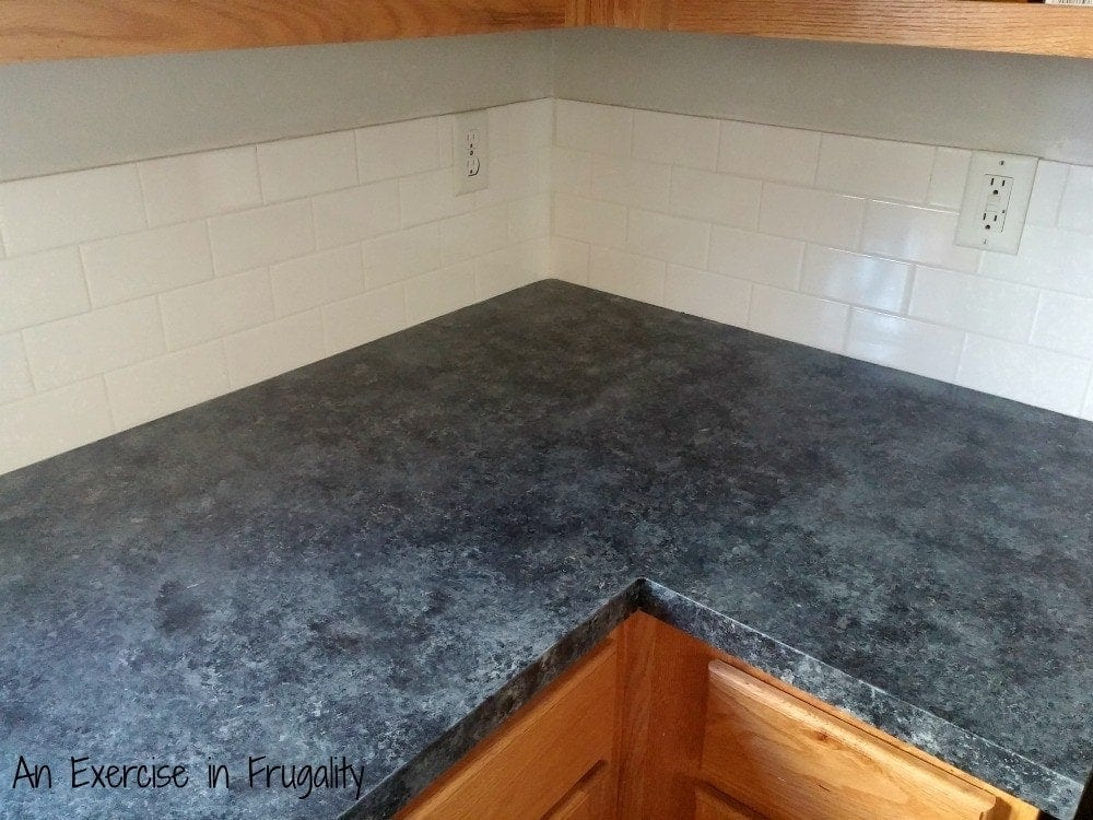 Giani Countertop Paint On Tile : ... Series Part 2: Faux Granite Countertops - An Exercise In Frugality