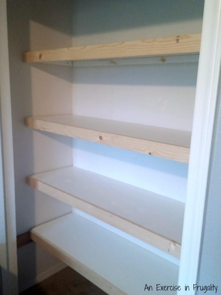 Closet in progress