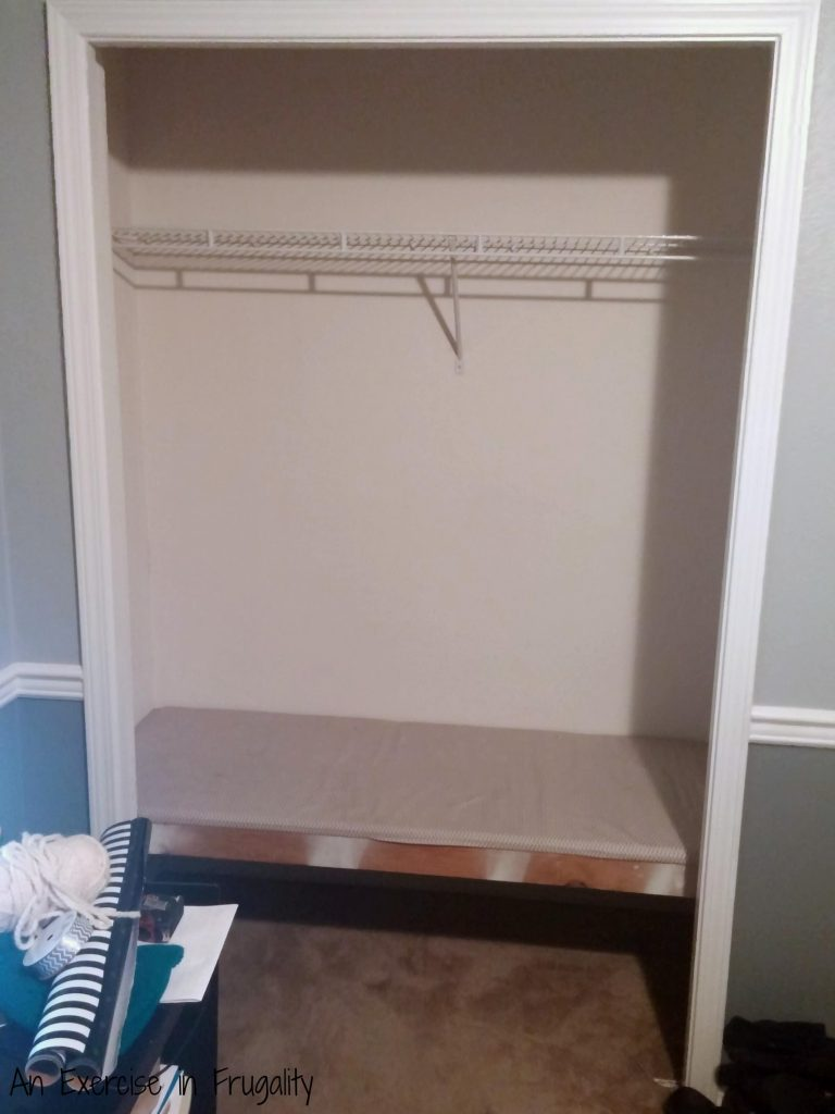Closet shelves makeover