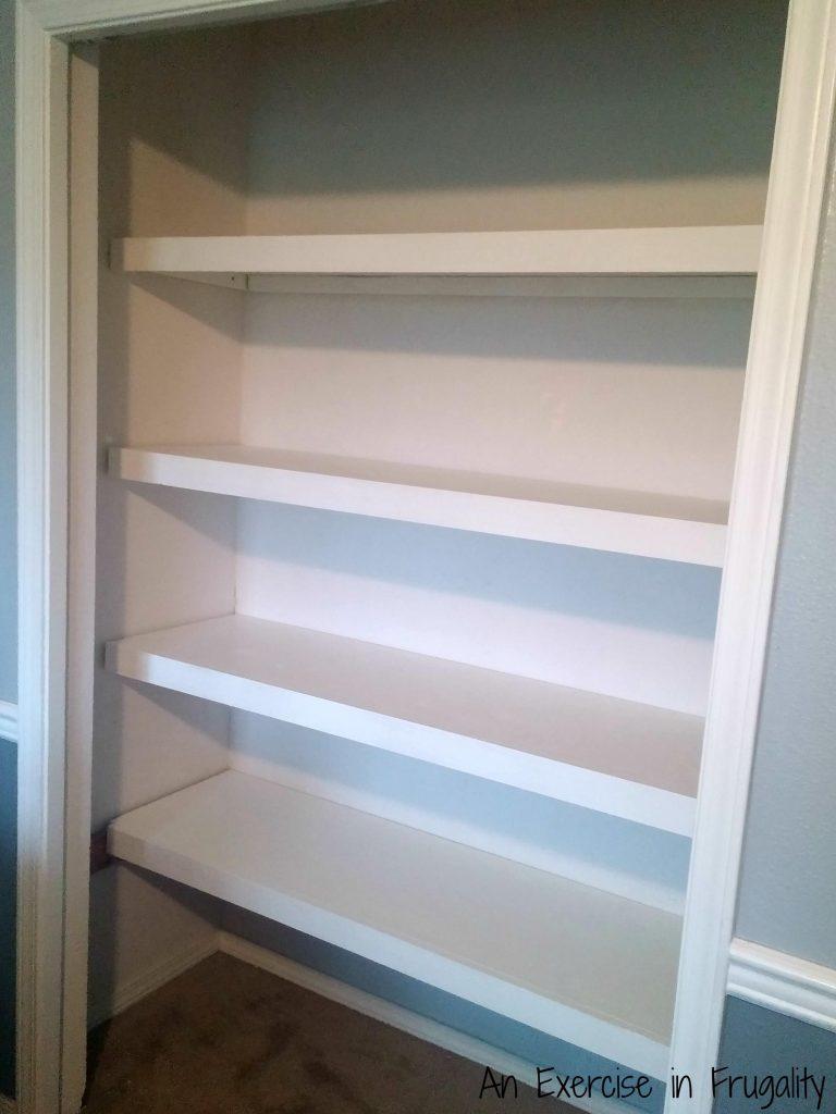 finished floating shelves