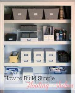 how to build floating shelves closet