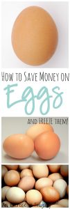 Save Money on Eggs