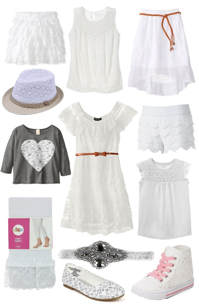 white lace for girls