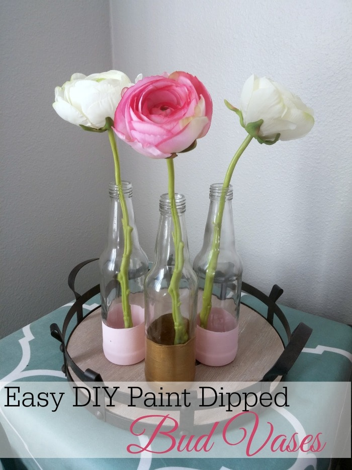 Easy DIY Paint Dipped Bud Vases