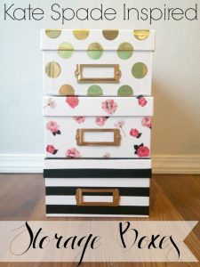 Easy Kate Spade Inspired Storage Boxes