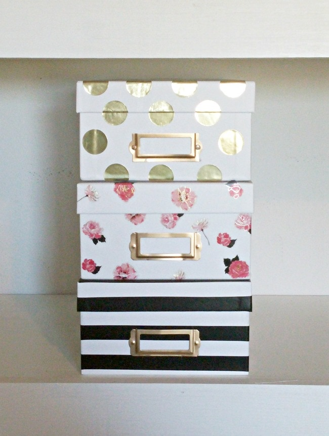 Attirant Kate Spade Inspired Storage Boxes