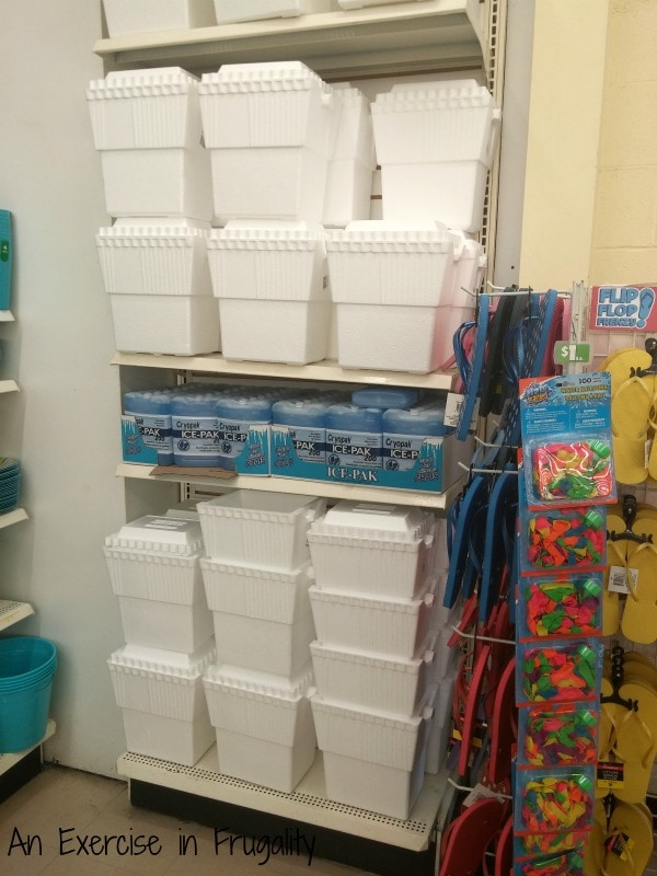dollar tree styrofoam cooler ice pack air conditioner