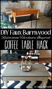 DIY Faux Barnwood Restoration Hardware Inspired Coffee Table Hack - Copy