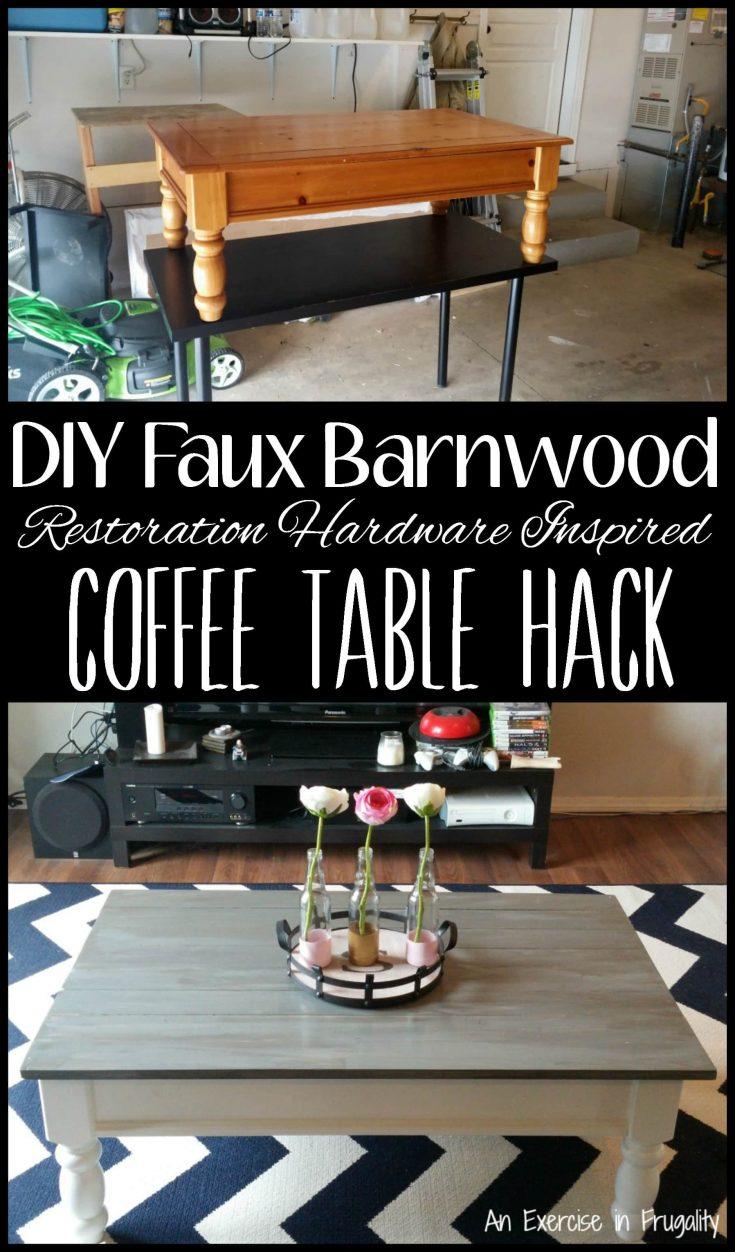 DIY Barnwood Coffee Table