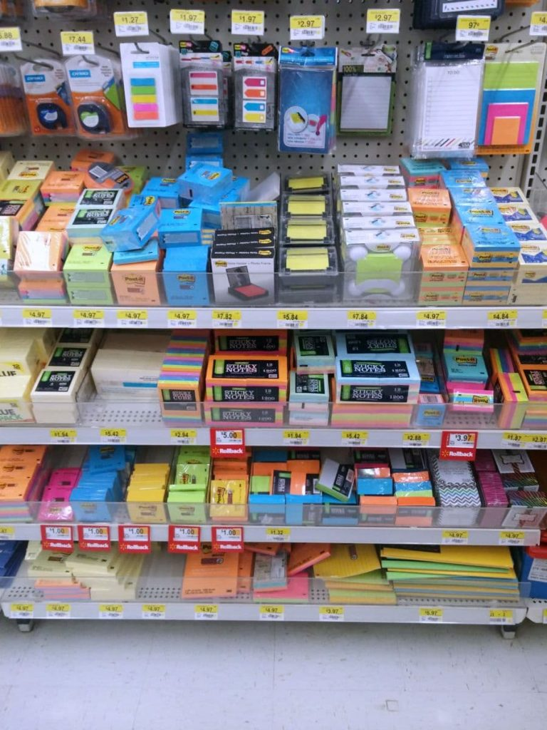 Walmart Post It Notes