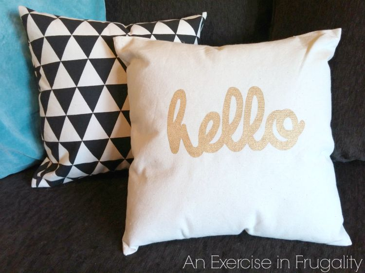 DIY canvas throw pillows