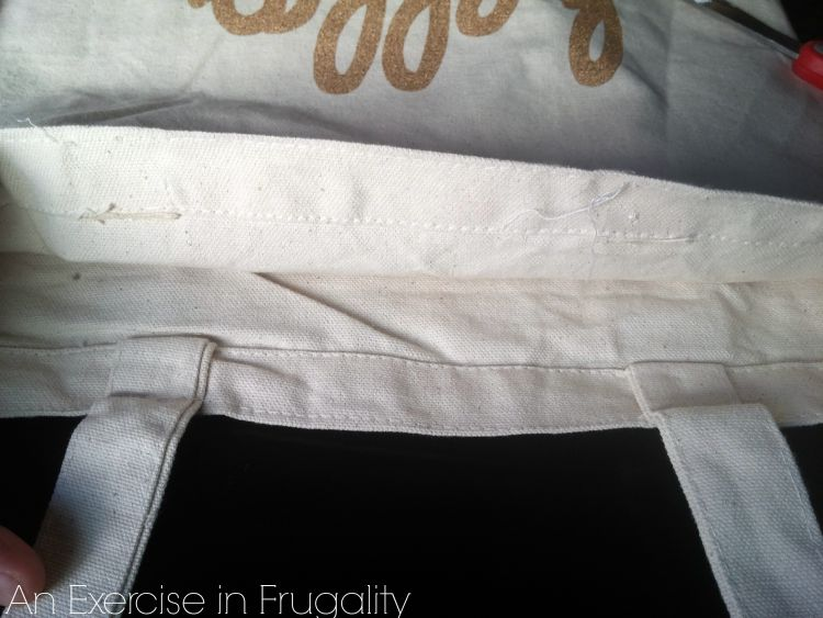 canvas shopping bag hack