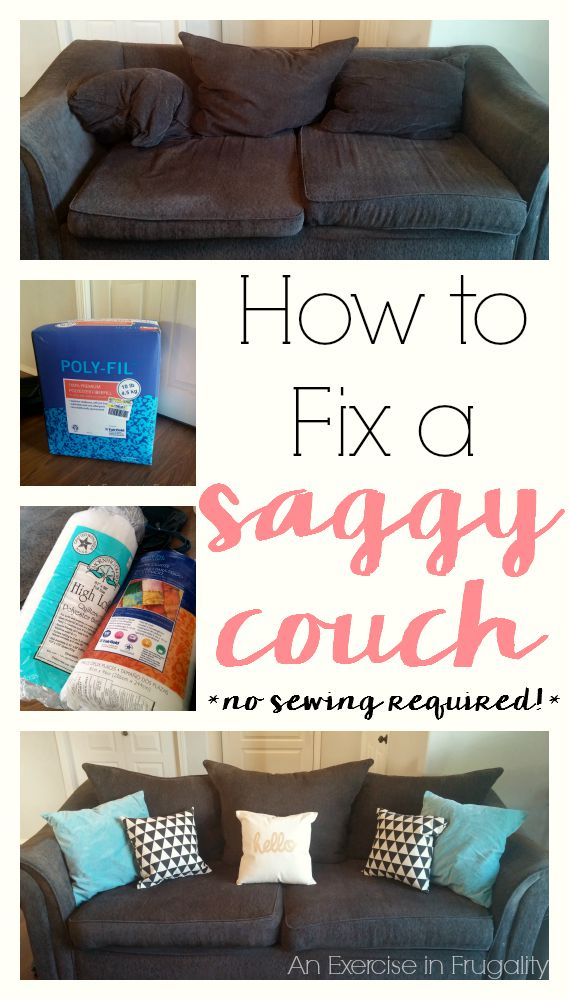 How To Revive Your Saggy Couch An Exercise In Frugality