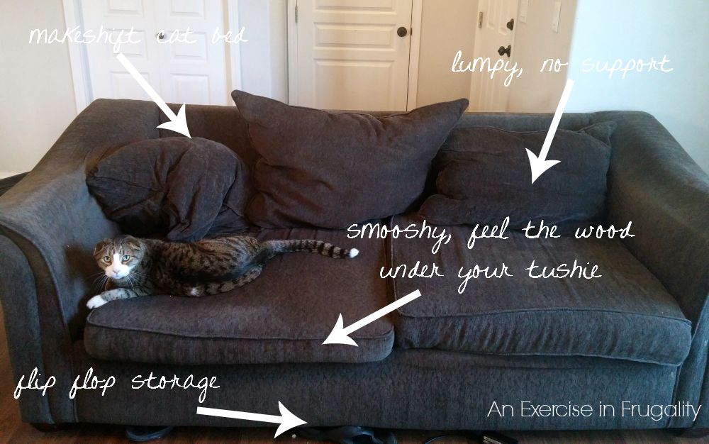 How to Fix Saggy Couch Cushions | An Exercise in Frugality