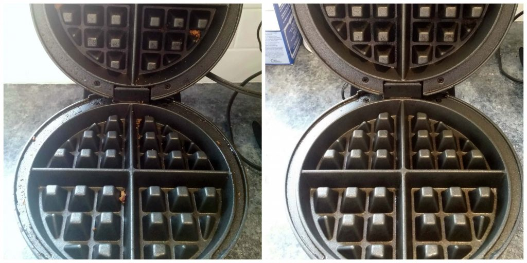 how to clean waffle iron