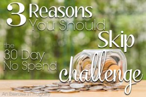 30 day no spend challenge