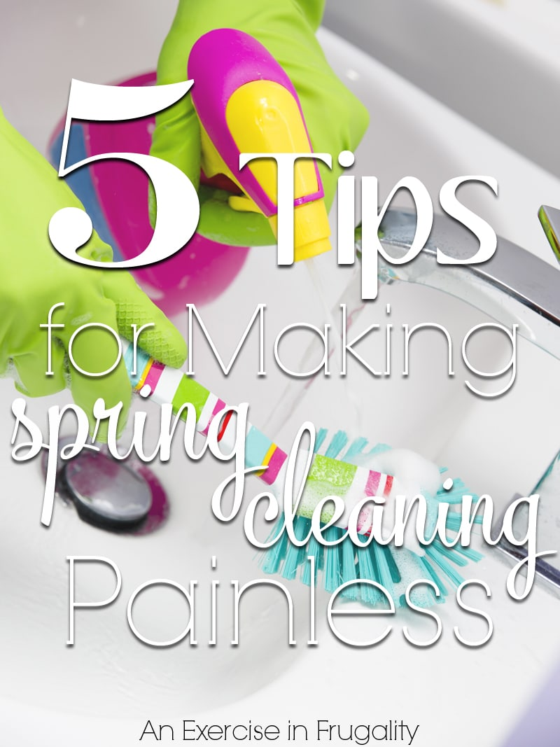 tips for making spring cleaning easy
