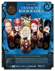 Alice Through The Looking Glass Printable Bookmarks