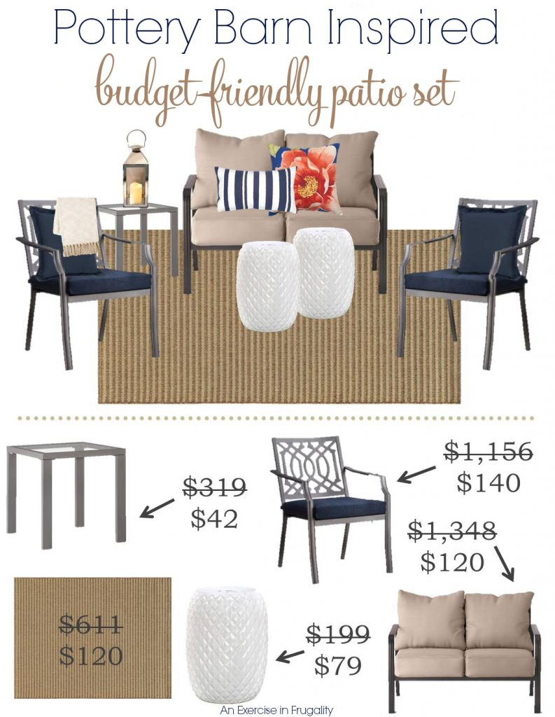 Nice Pottery Barn Inspired Budget Patio Set
