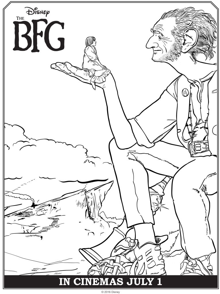 The BFG Free printable Coloring Sheets
