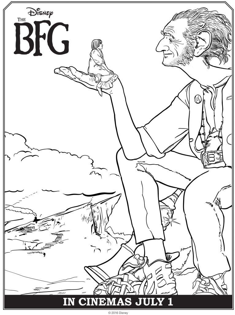 The BFG Free printable Coloring Sheets