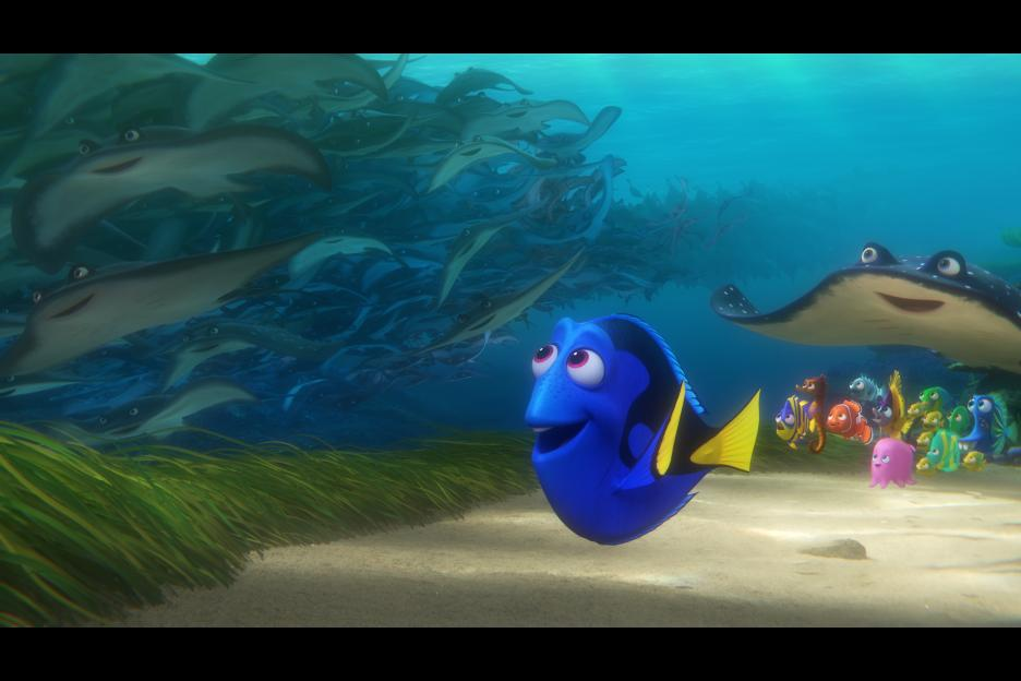Finding Dory in theaters now
