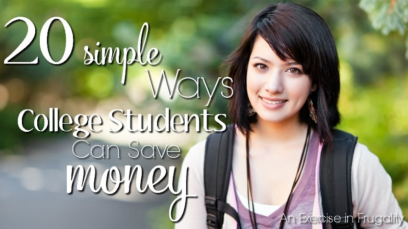 20 Simple Ways College Students Can Save Money-this is a must-read for any college-bound students whether freshmen or upper classmen. Lots of excellent tips for the broke college kids (and their parents)!