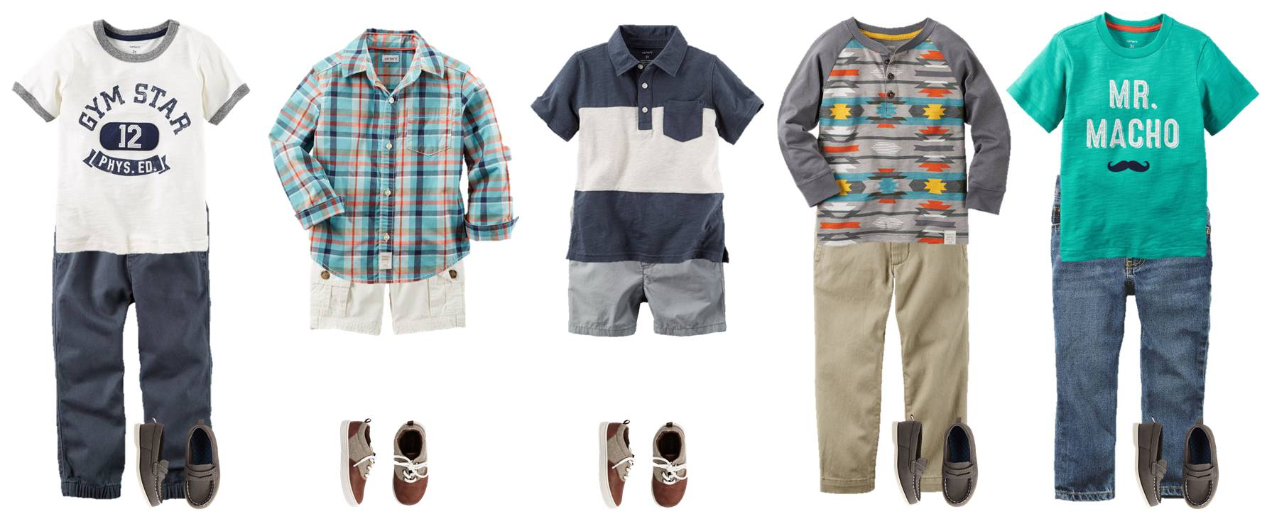 Back to School time is almost here! These outfits from Carter's are SO adorable and very affordable (oh, and there's a coupon code now too!). Get your little man decked out for back to school and let him show off his own cool style.