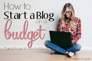 How to Start a Blog on a Budget