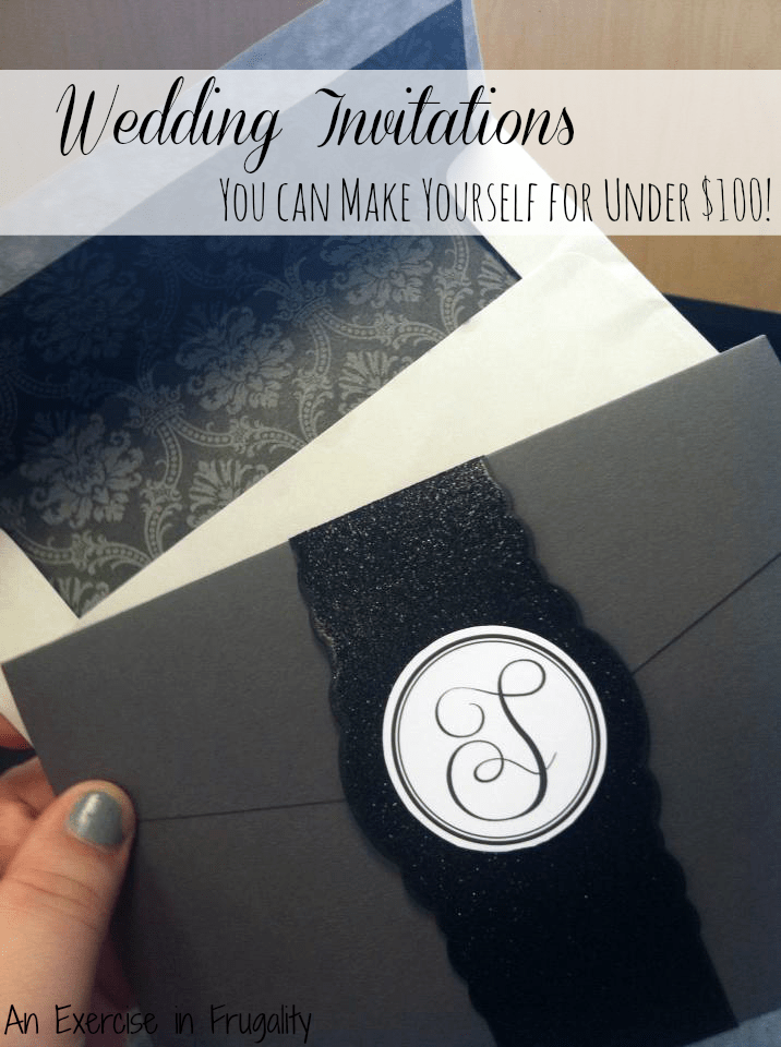 How to have a budget wedding: Make your own wedding invitations!