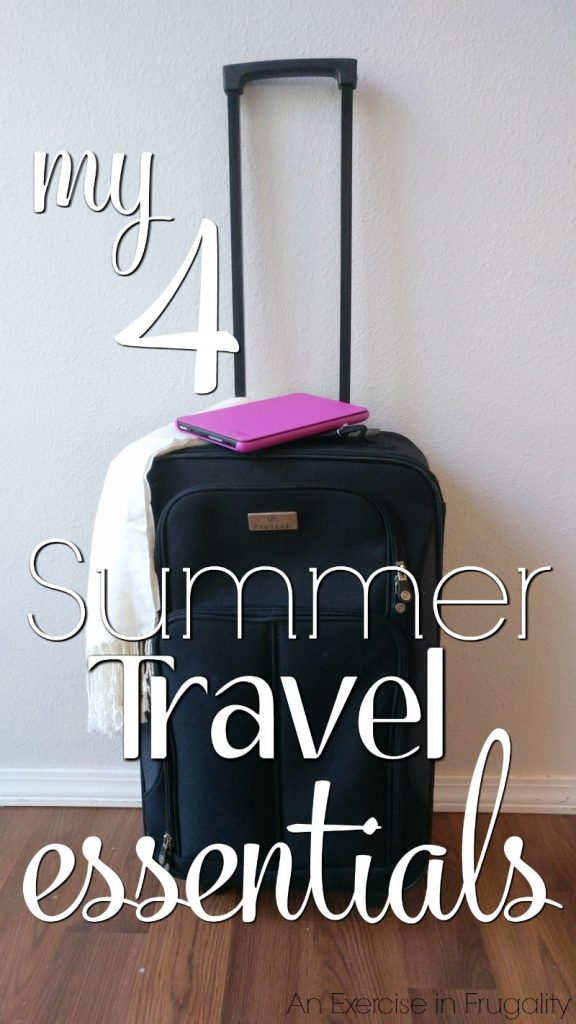 My 4 Summer Travel Essentials- I don't recommend hitting the road this summer (or any time of year) without these 4 staples. I use these every time I travel, especially #4! Amazon | Tablet | Fire | Travel | Essentials| #Ad