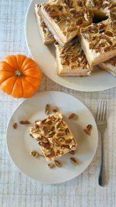 Pumpkin spice dessert bars