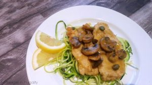 chicken scallopini with zoodles