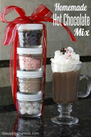 homemade hot chocolate mason jar